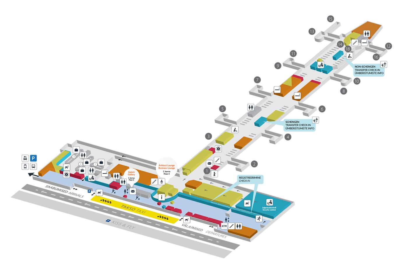 Trsm Floor Plan Map Of The Terminal Tallinn Airport