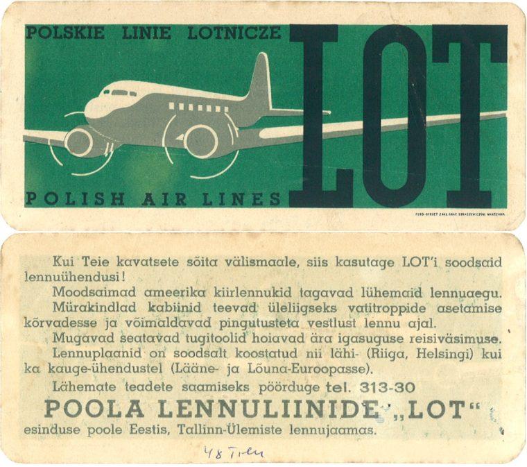 1932 LOT piletid