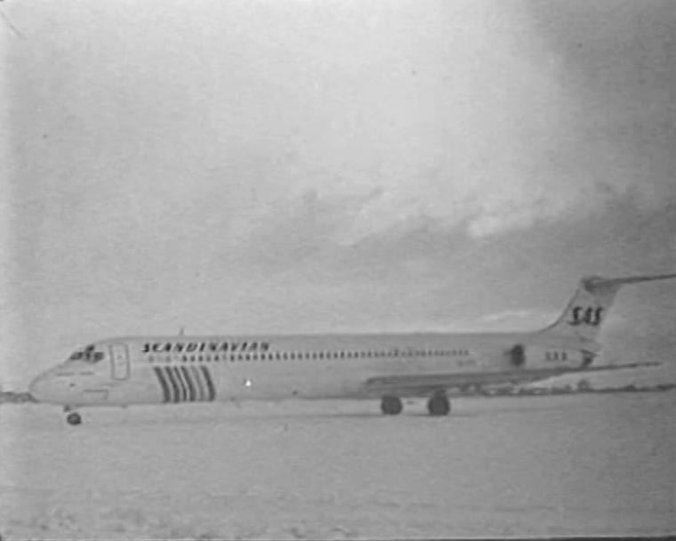 SAS-i lennuk, mis avas 1989. aastal Tallinn-Stockholm liini