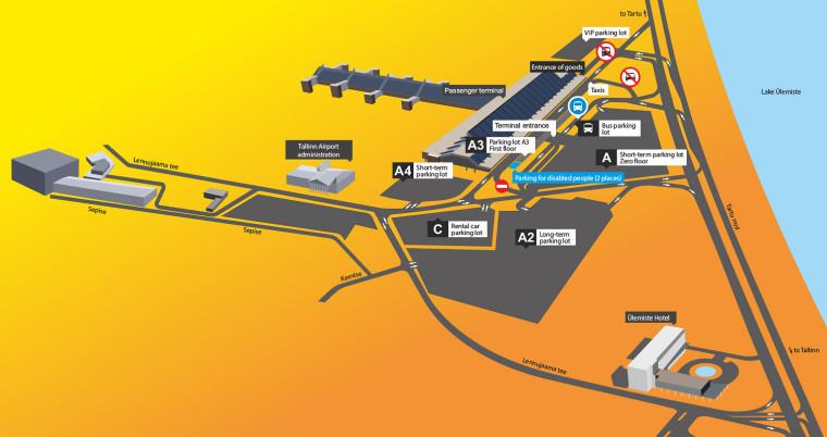 Parking plan at Tallinn Airport