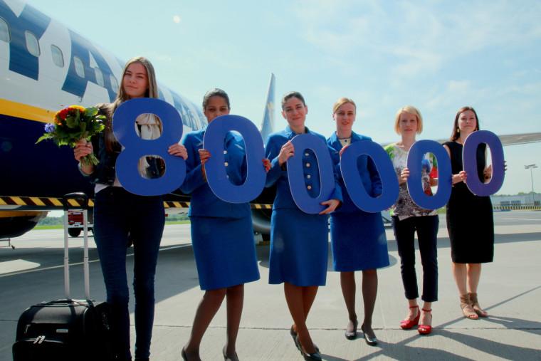 Ryanairi 800000 reisija Tallinna Lennujaamas
