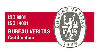 ISO9001+ISO14001 sertifikaadi logo